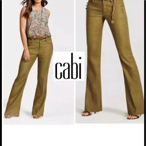 CAbi Charlie Trousers Linen blend Wide leg Size 2